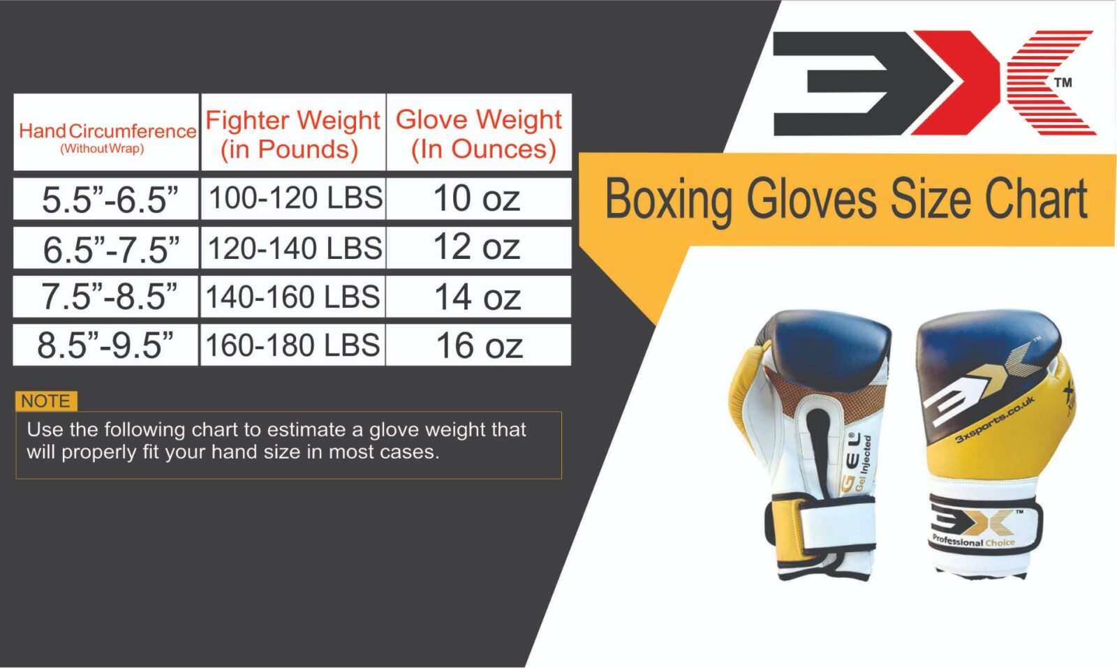 3x Sports Professional Choice BG-3X-07-02 Leather Boxing Gloves(GOLDEN/BLACK)-1229