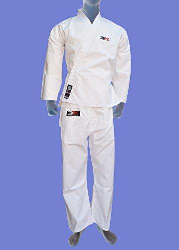 Karate Suit & Belt Starter Uniform GI All Sizes Junior/Senior All Martial Arts Styles (Karate Suits White 4/170)-289