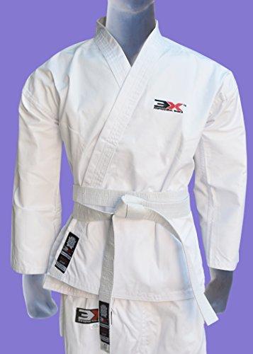 Karate Suit & Belt Starter Uniform GI All Sizes Junior/Senior All Martial Arts Styles (Karate Suits White 4/170)-0