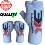 Hand Wraps Gloves Bandages Muay Thai Kick Boxing Inner Quick Hand Wraps Gloves MMA UFC Wrist Grips Bandages Gel Padded Hand Wraps Leather (White, Small/Medium)-315