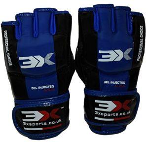 3X Sports Professional Choice GG-3X-04 Grappling Gloves(BLUE)-0