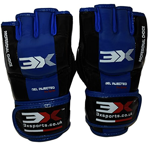 3X Sports Professional Choice GG-3X-04 Grappling Gloves(BLUE)-0
