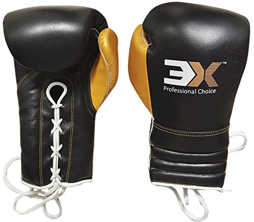 3X Sports Professional Choice BG-3X-PRO-02 Professional Boxing Gloves(BLACK)-0