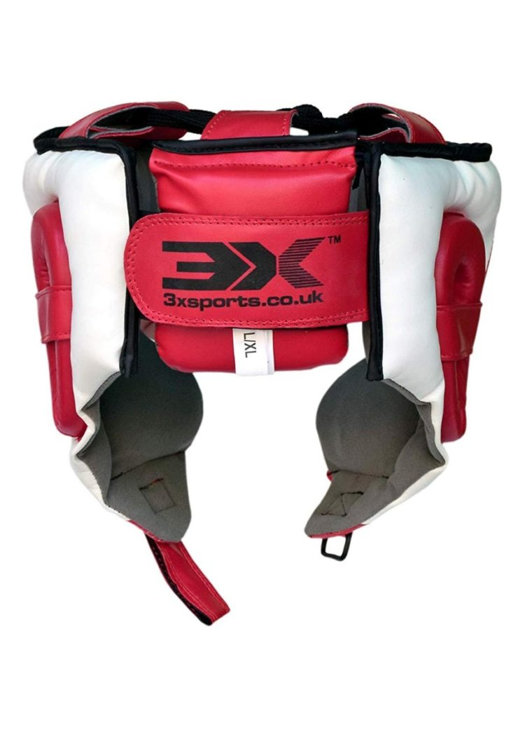 3X Sports Professional Choice HG-3X-05 Head Guard(RED/WHITE)-766