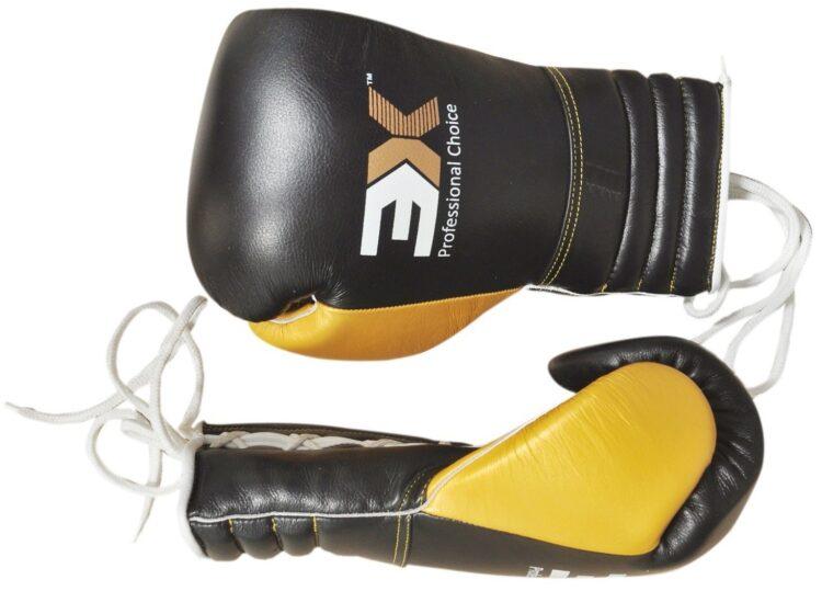 3X Sports Professional Choice BG-3X-PRO-02 Professional Boxing Gloves(BLACK)-908
