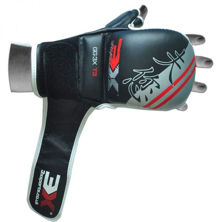 3X Sports Professional Choice GG-3X-03 Grappling Gloves(GREY)-1063
