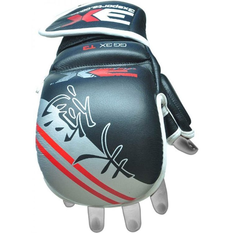 3X Sports Professional Choice GG-3X-03 Grappling Gloves(GREY)-0
