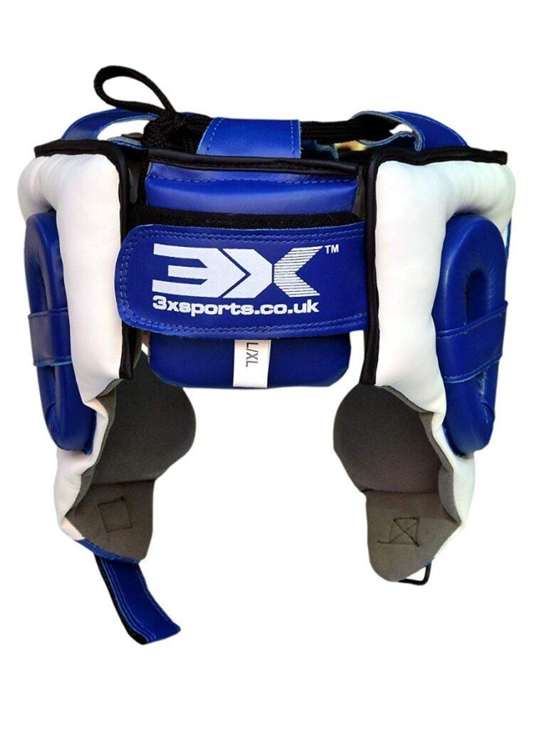 3X Sports Professional Choice HG-3X-04 Head Guard(BLUE/WHITE)-765