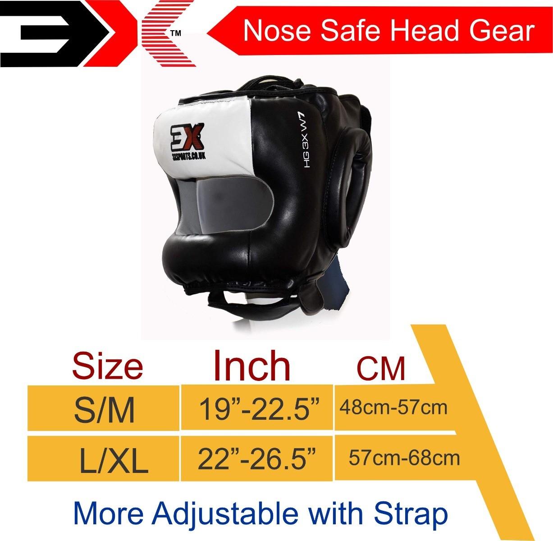 3X Sports Professional Choice HG-3X-16 Head Guard(WHITE)-1272