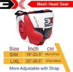 3X Sports Professional Choice HG-3X-05 Head Guard(RED/WHITE)-1445