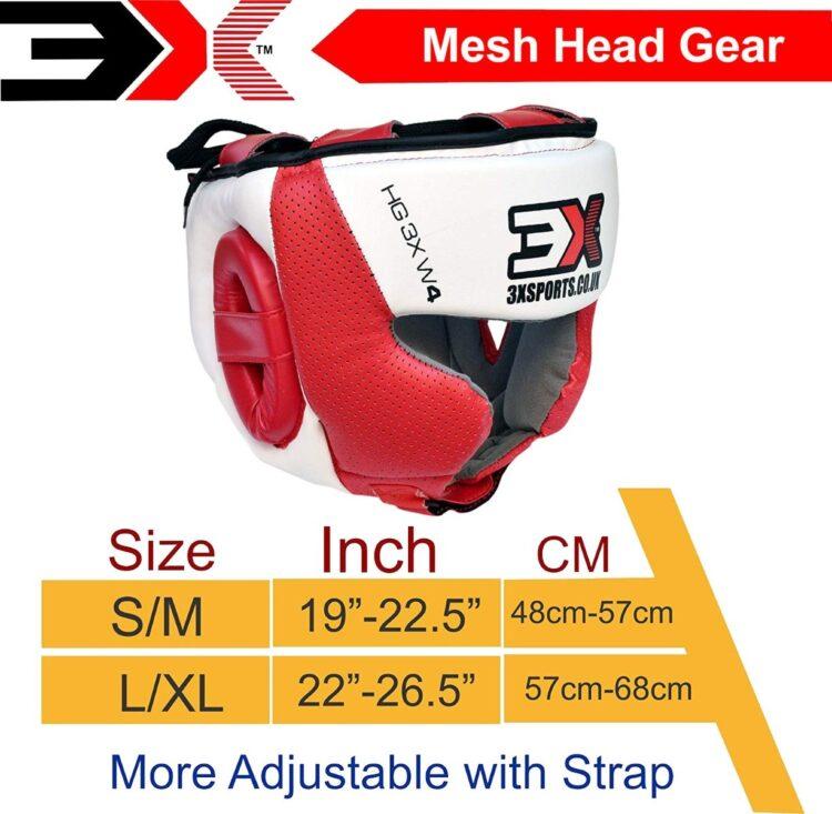 3X Sports Professional Choice HG-3X-05 Head Guard(RED/WHITE)-1445