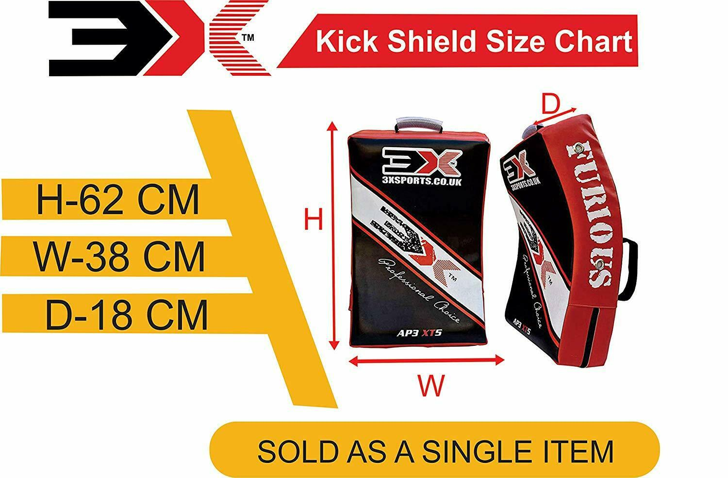 3X Sports Professional Choice SS-3X-02 Kick Shield(RED)-1479