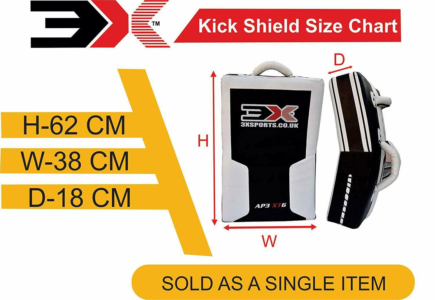 3X Sports Professional Choice SS-3X-01 Kick Shield(WHITE)-1477