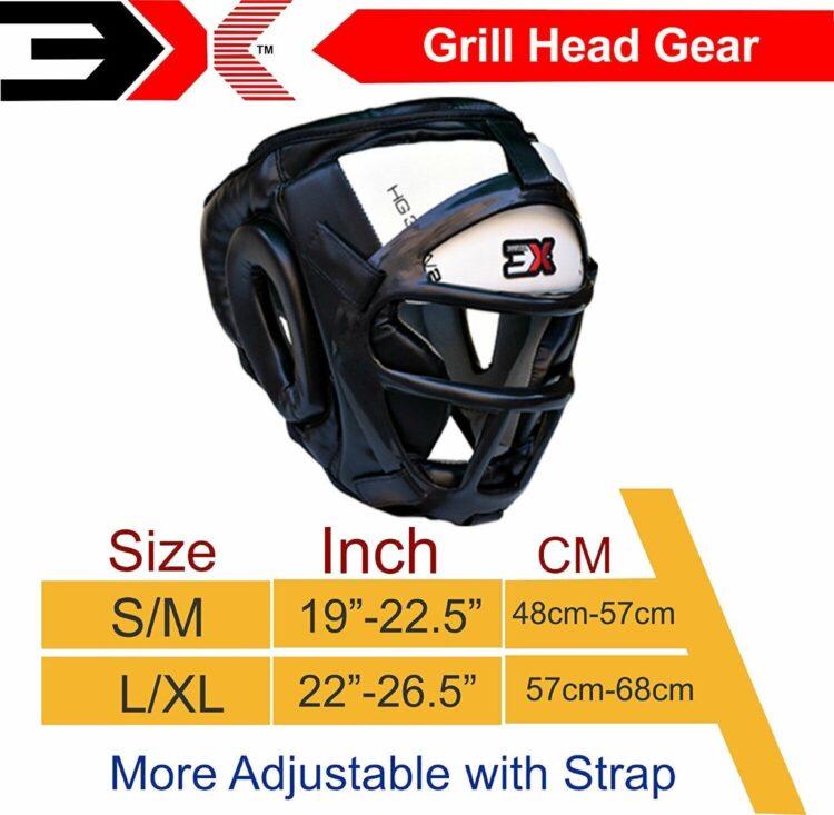3X Sports Professional Choice HG-3X-11 Grill Head Guard(WHITE)-1423