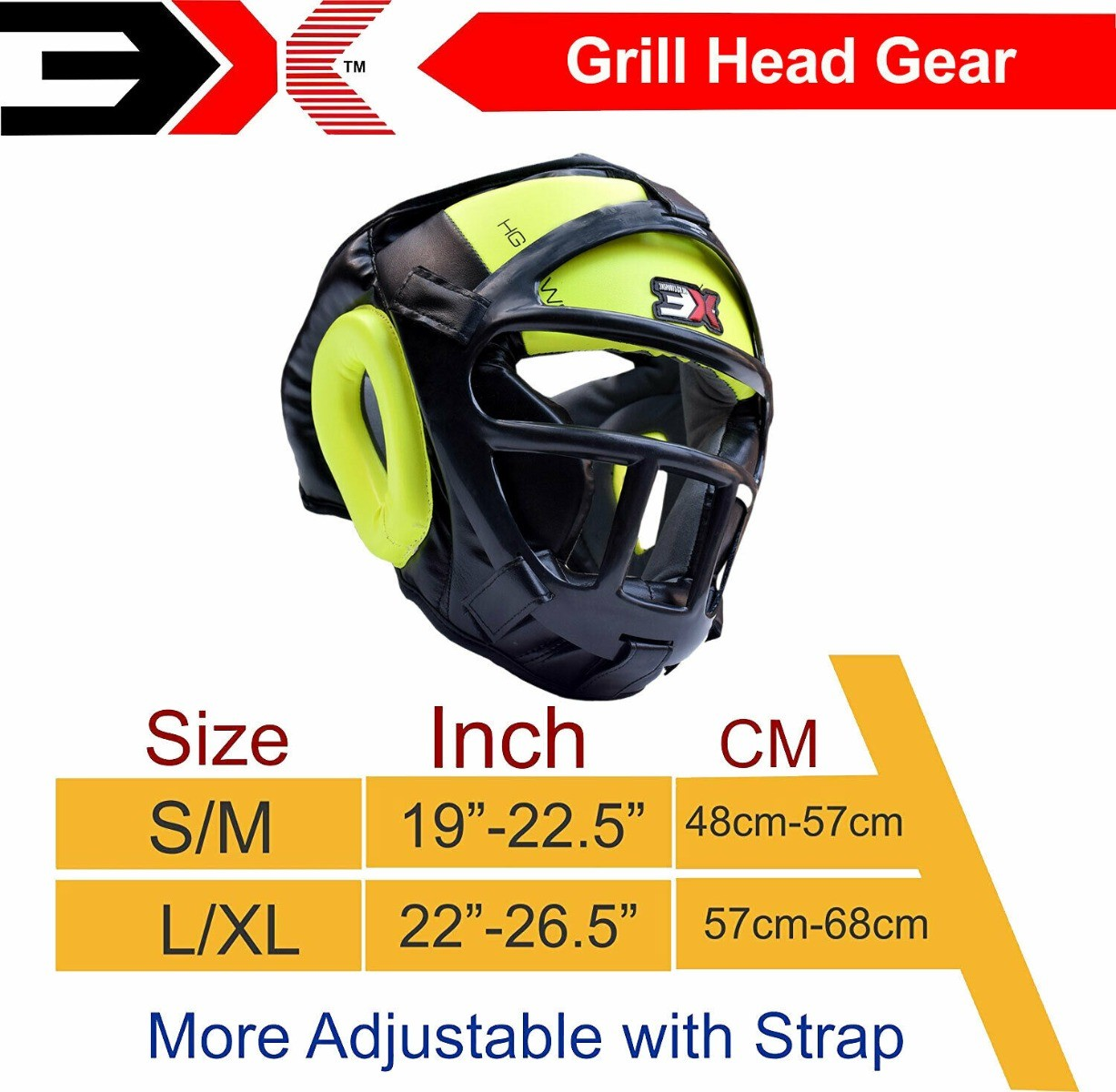 3X Sports Professional Choice HG-3X-13 Grill Head Guard(FLUORESCENT)-1413