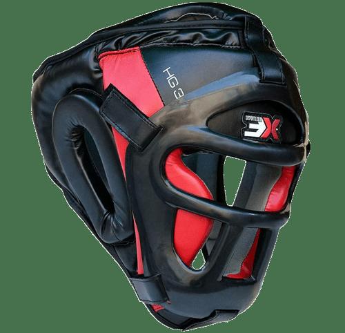 3X Opci/ón Profesional Headguard Boxing MMA Protector Head Head Fighting Headgear Sparring Helmet